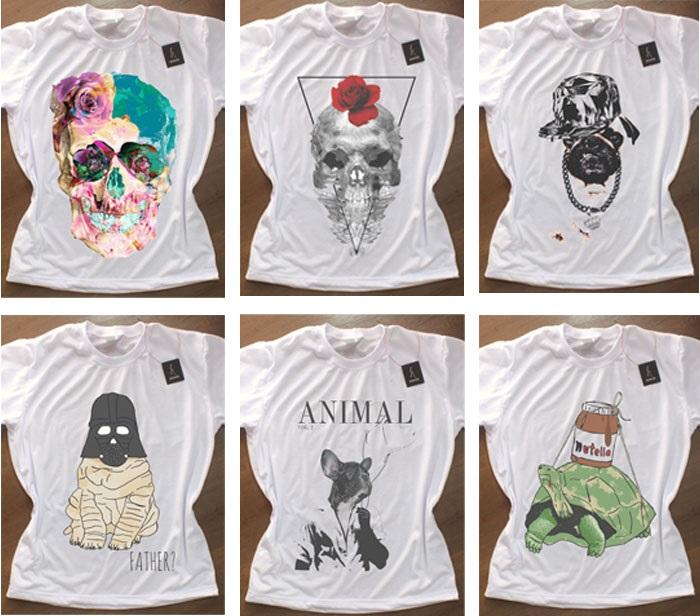 Camisetas Femininas Masculinas Comprar Online