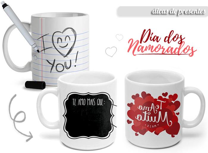 Canecas Dicas de Presentes para o Dia dos Namorados
