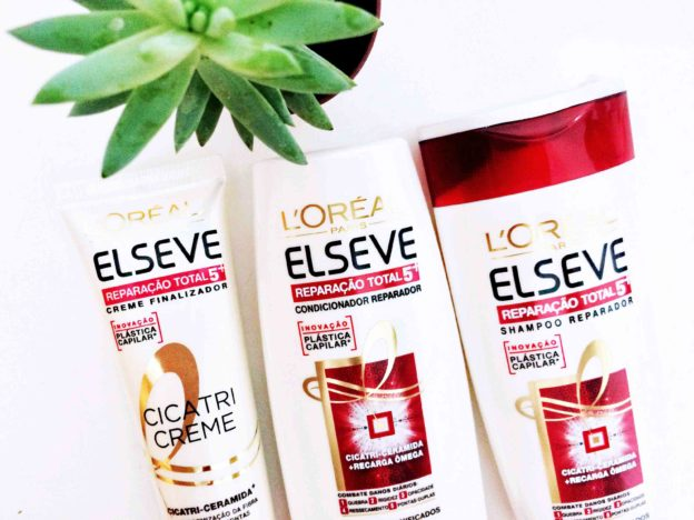 Resenha Shampoo Condicionador e Creme Elseve Reparacao Total 5 Branco