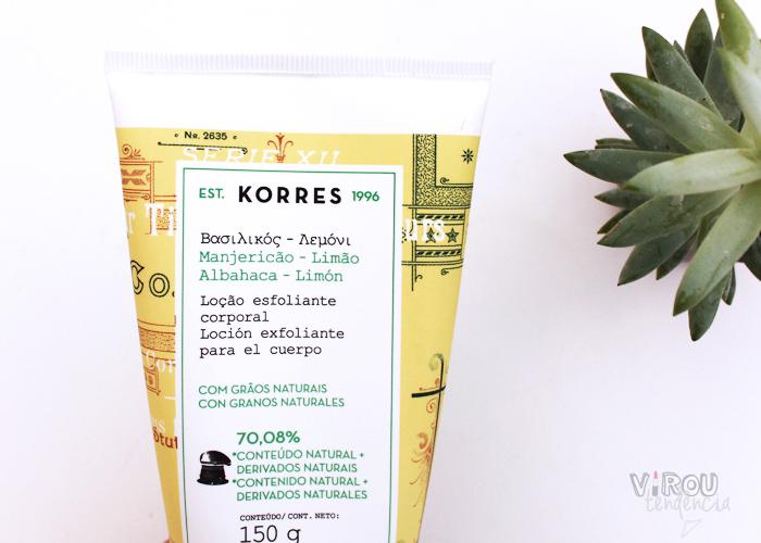 Resenha Esfoliante Corporal Manjericao-Limão Korres Produtos de Beleza