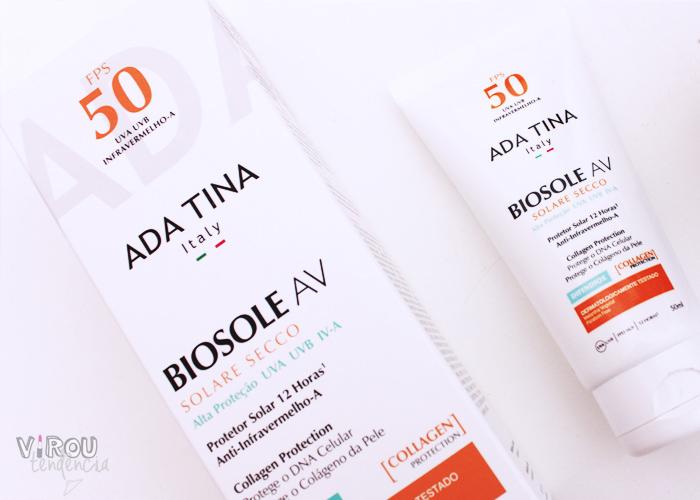 Resenha Protetor Solar Biosole Av Solare Secco da Ada Tina - Blog