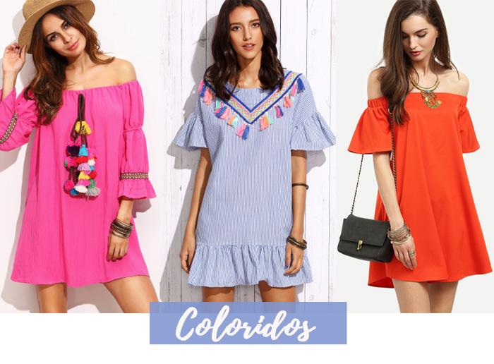 Vestidos Curtos e Coloridos Verao