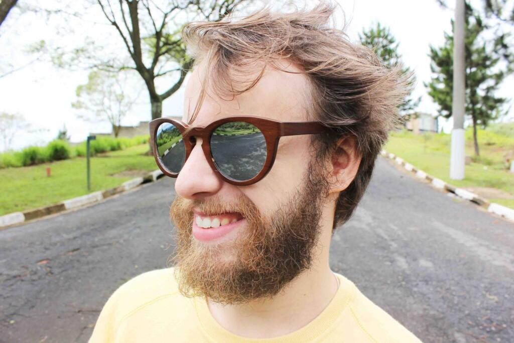 Look Oculos de Madeira João Gabriel Homor