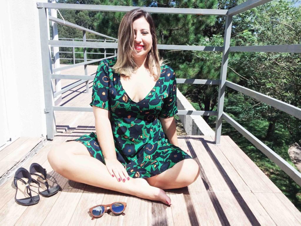 Como Usar Vestido Floral Verde Look do Dia