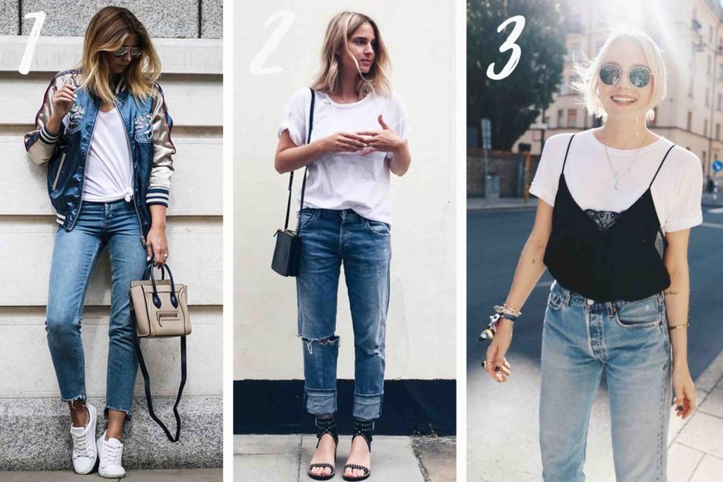Looks Básicos com Calça Jeans e Camiseta Branca