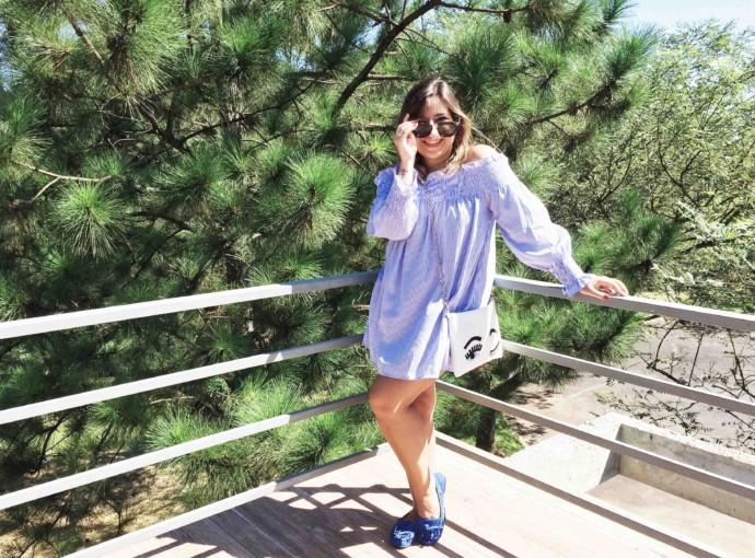Como Usar Camisa Listrada Azul Branco Look do Dia