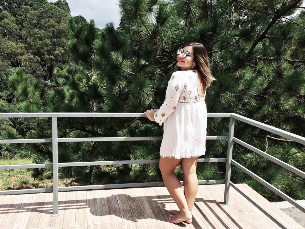 Óculos de Sol Dior Inspired e Saída de Praia Branca