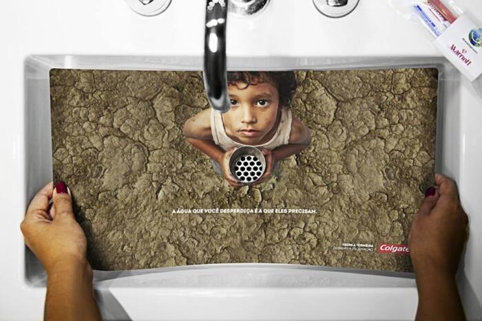 Dia Mundial da Agua Feche a Torneira Colgate