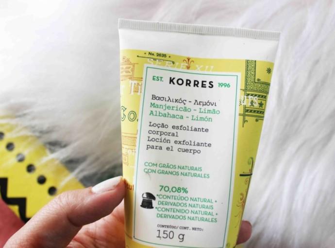 Resenha Esfoliante Korres Manjericão e Limão