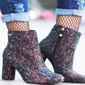Comprar Bota Glitter Tendências Sapatos Femininos Inverno 2017