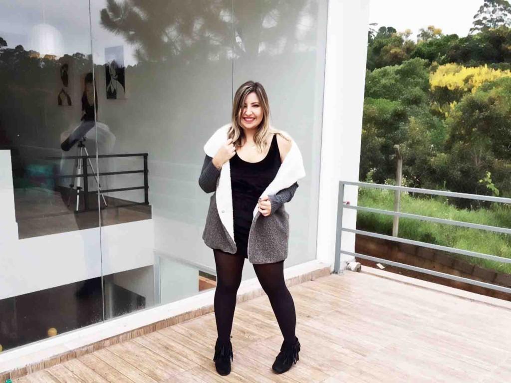Look Casaco de Pelo - Como Usar Casaco de Pelo Fake no Inverno