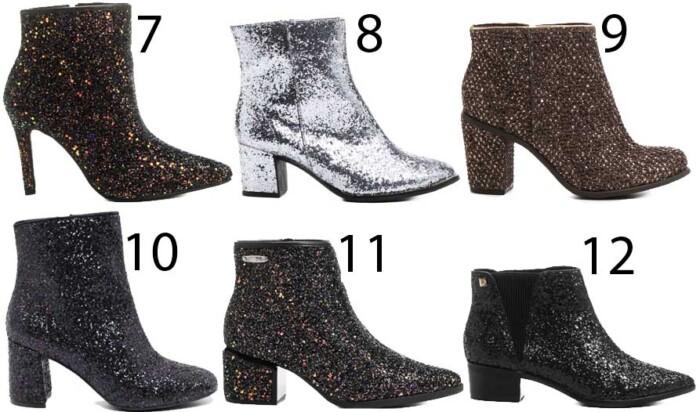 Comprar Bota com Glitter Tendências Sapatos Femininos Inverno 2017