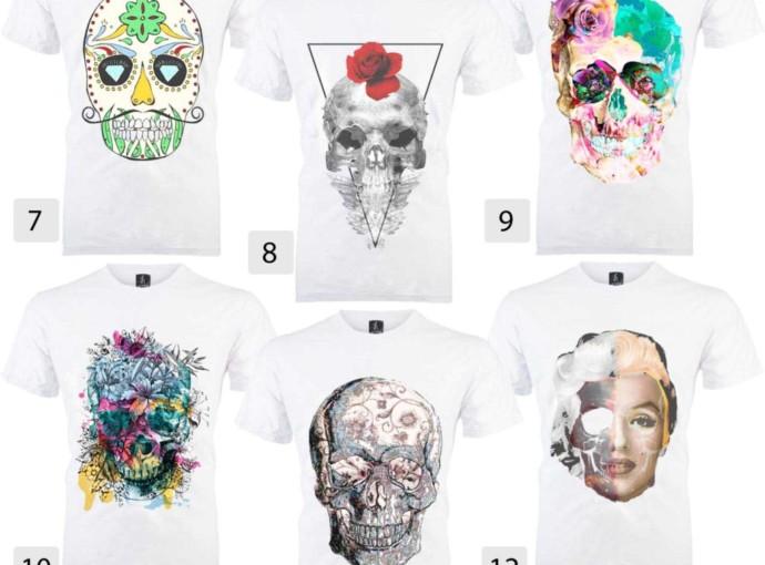 Comprar Camiseta Caveira Feminina- Camiseta Caveira Mexicana, Camiseta Caveira Marilyn Monroe