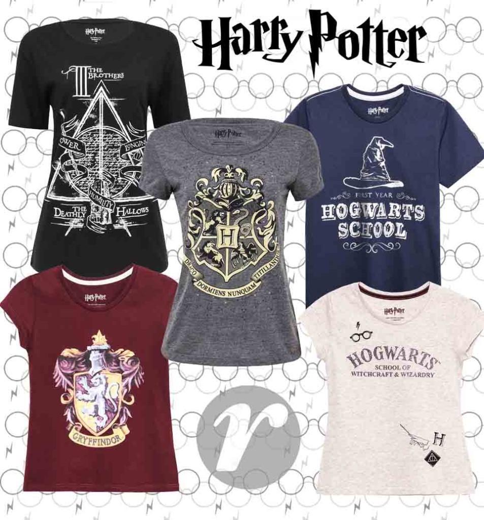 Coleção Renner Harry Potter Camisetas, Moletom e Pijamas