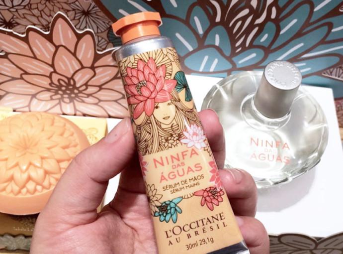 Coleção L'Occitane au Brésil Ninfa das Águas - desodorante colônia, sérum para mãos, sérum corporal e sabonete flor vitória-régia