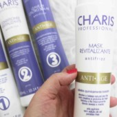 Resenha Charis Anti Age Shampoo Condicionador Máscara de Hidratação Leave In - cuidados com os cabelos