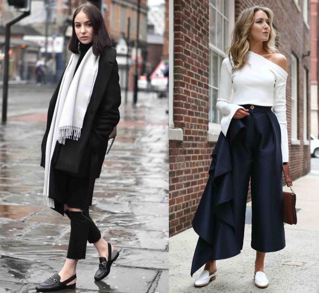 Como Usar Flat Mule Tendências Sapatos - Looks e Dicas de Moda Open Loafer