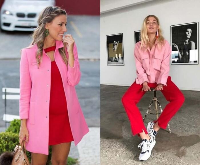 Dicas de Looks - Como Usar Looks Rosa e Vermelho
