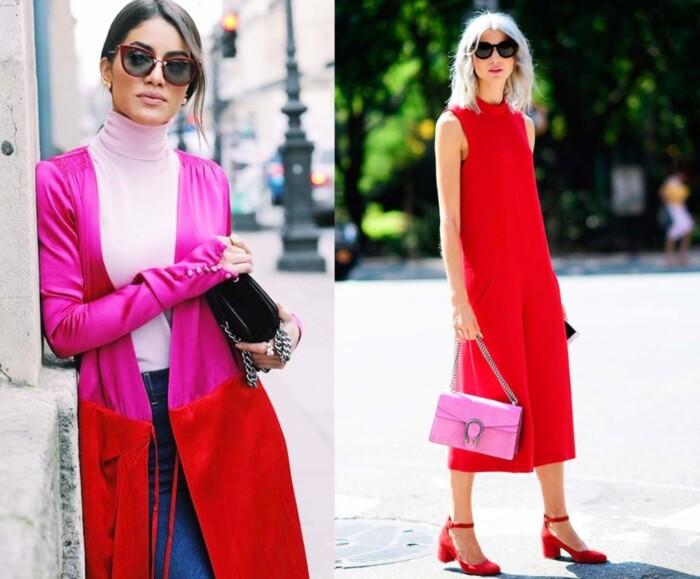 Como Usar Looks Vermelho e Rosa