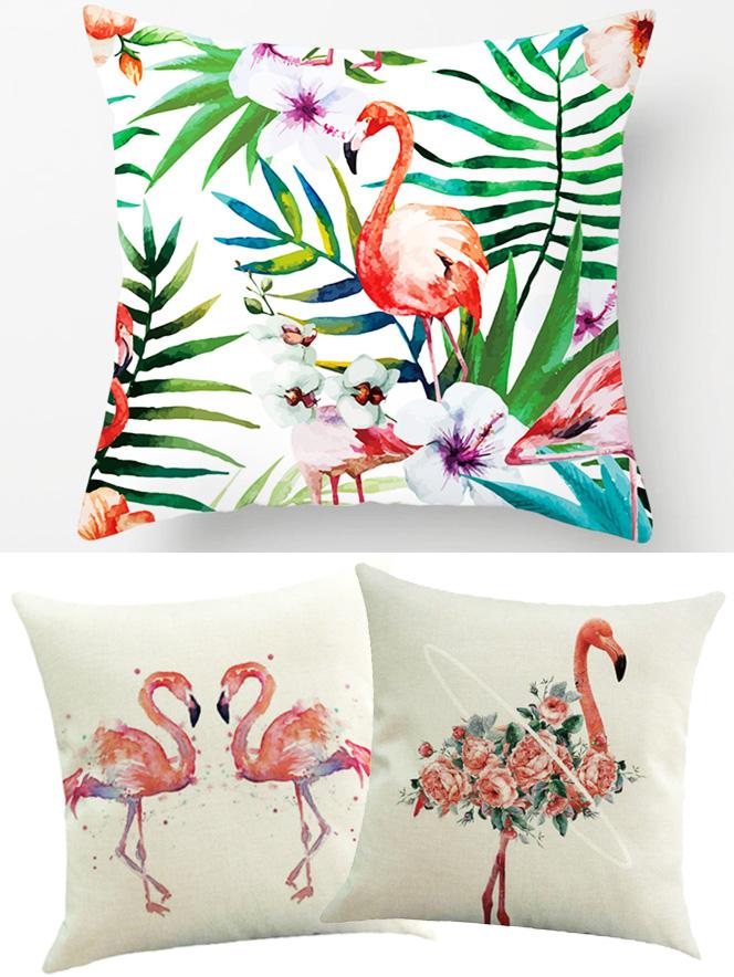 Almofadas de Flamingos