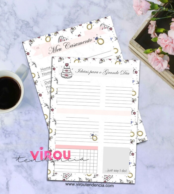 Planner de Casamento Diario da Noiva: Dicas de Como Planejar seu Casamento