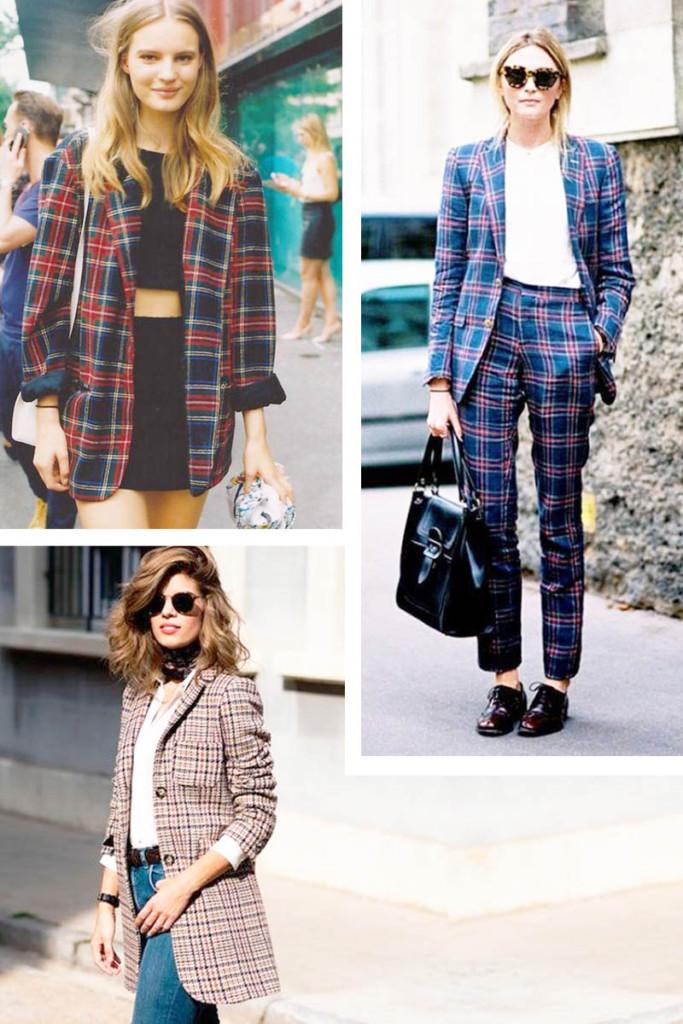 Como Usar Blazer Xadrez Feminino - Looks com Blazer Xadrez