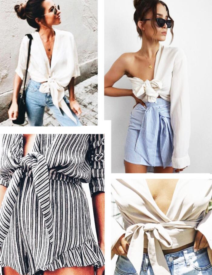 Como Usar Tie Top Shirt - Tendências e Looks de Inspiração