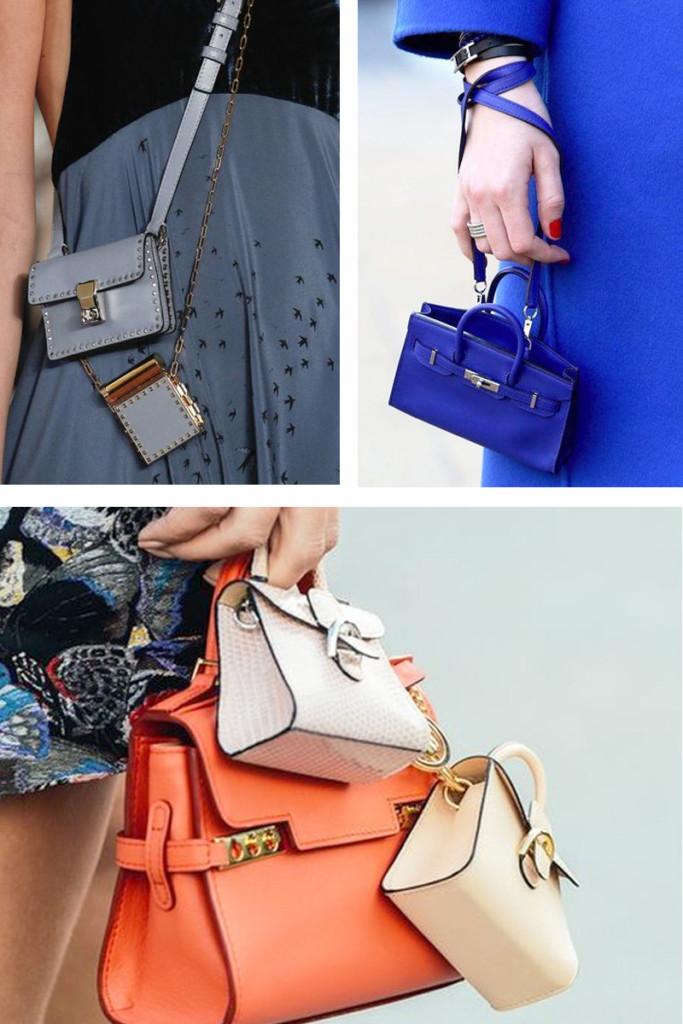 Mini Bolsas - Micro Bags - Tendências Bolsas Inverno 2018 - As Bolsas da Moda em 2018