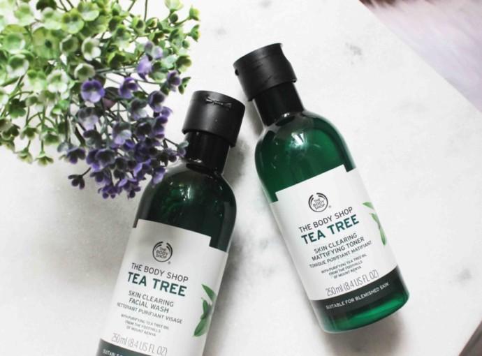 Resenha Tea Tree The Body Shop - Gel de Limpeza Facial e Tônico Refrescante -Produtos para Peles Oleosas