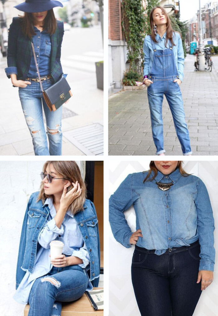 Como Usar Jeans com Jeans: Looks All Denim - Looks Jeans com Jeans