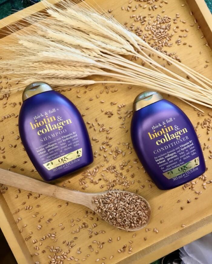 Produtos OGX Beauty - Shampoo e condicionador OGX Biotin e Collagen