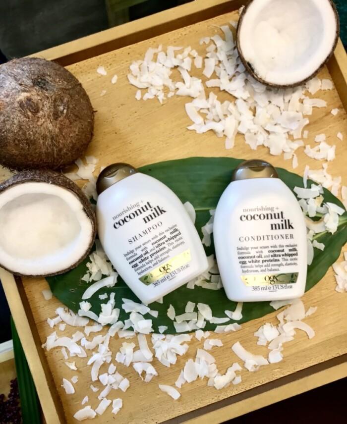 Produtos OGX Beauty - Shampoo e condicionador OGX Coconut Milk