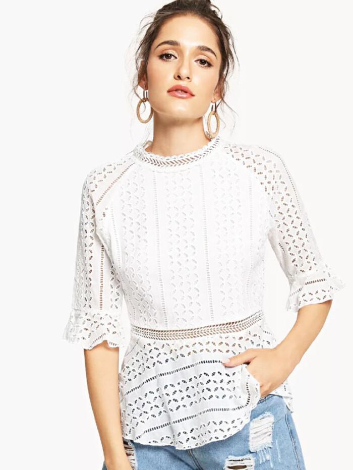 blusas para combinar com calça jeans - blusa branca +jeans