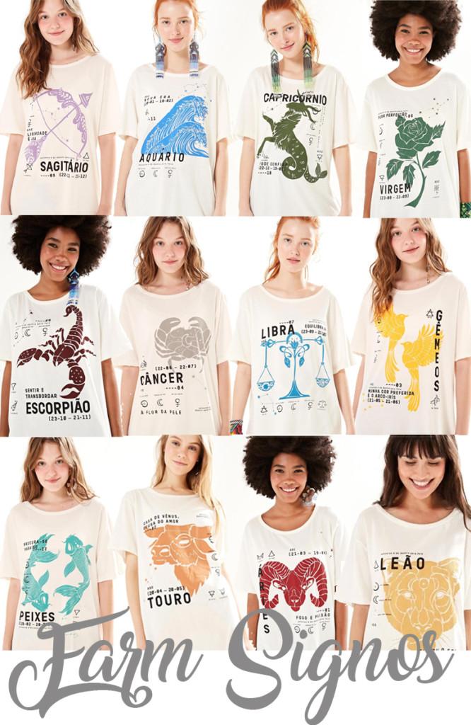 Coleção Farm Signos Verão 2019 - Camiseta de Signo