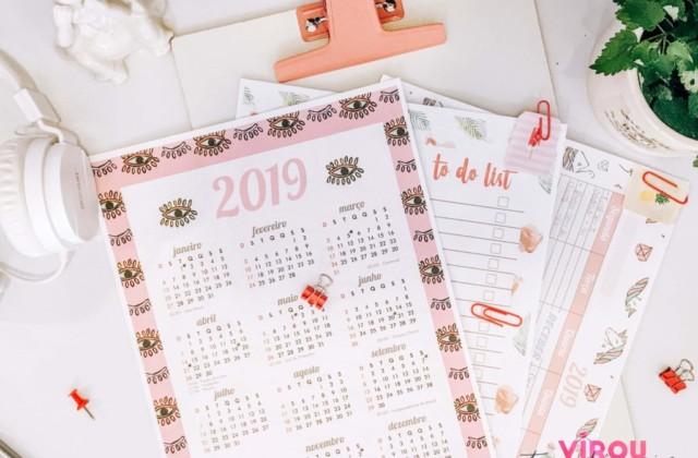 Printables para Download - tags, adesivos, planner de mesa, calendário e to do list para imprimir.