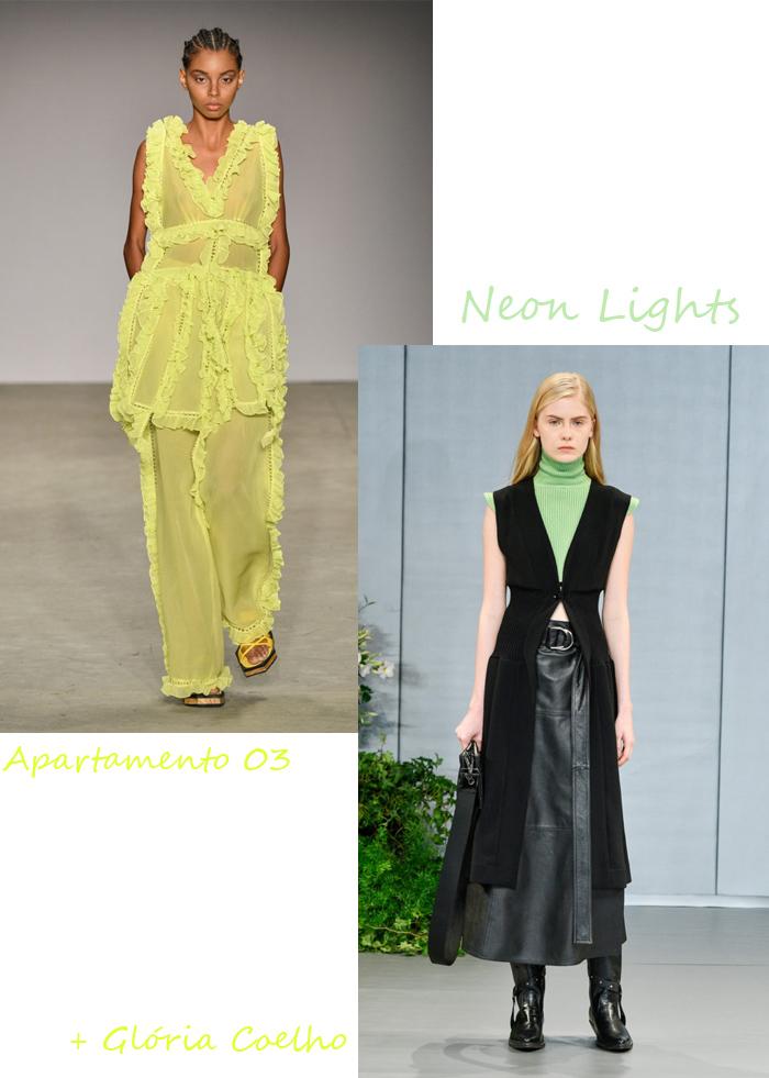 Tendências SPFW: das passarelas para nossos looks do dia - Looks em Neon