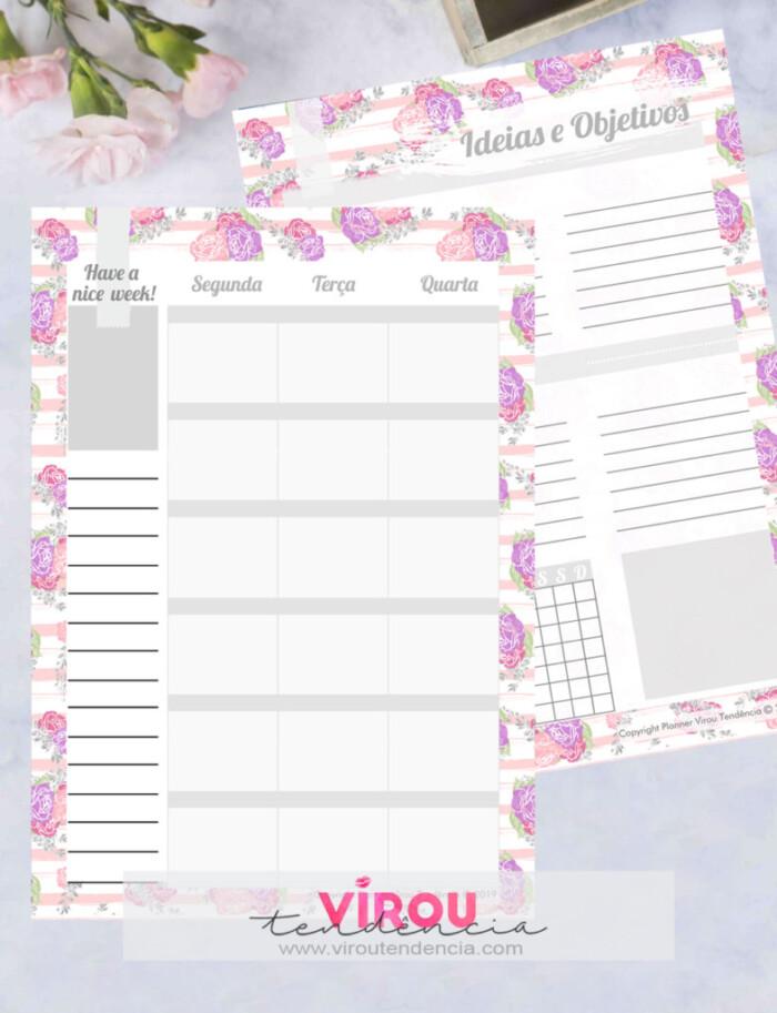 Planner 2019 - Floral